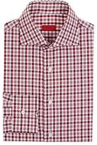 Isaia Men's Checked Cotton Poplin Button-Front Shirt