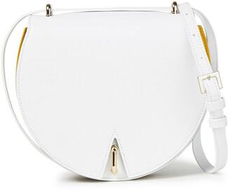 Sara Battaglia Caroline Pleated Color-block Leather Shoulder Bag