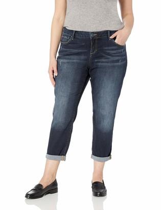 SLINK Jeans Women's Plus Size Bella Boyfriend Jean 16
