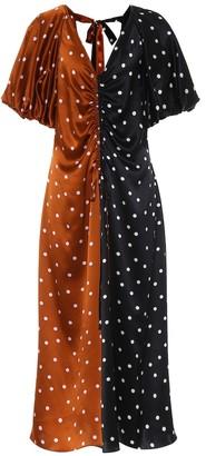 Talulah polka-dot silk-satin dress