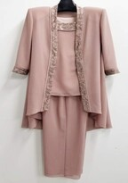 Thumbnail for your product : Le Bos Women's Embroidered Trim Duster 3PC Pantset