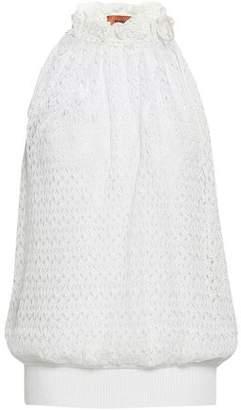 Missoni Gathered Crochet-knit Top