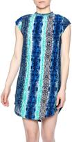 Olivaceous Snake Print Dress