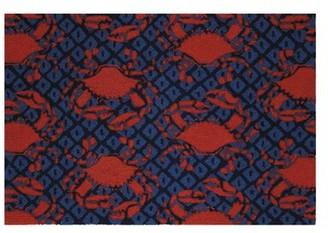 Soraya Longshore Tides Looped Wool Blue/Red Area Rug Longshore Tides
