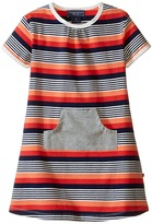 Toobydoo Short Sleeve Dress w/ Grey Pocket (Infant/Toddler)
