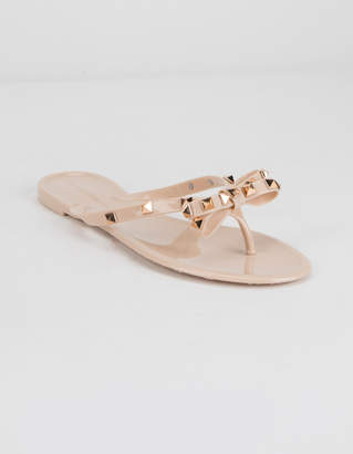 Wild Diva Jelly Bow Nude Women Sandals