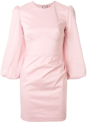 Manning Cartell cut-out 3/4 sleeves dress