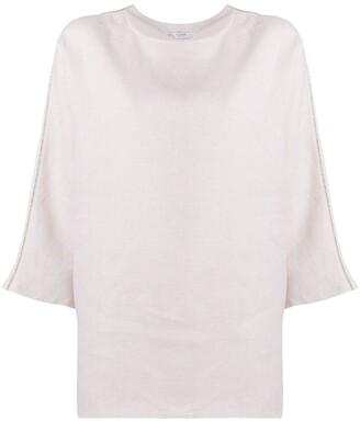 Peserico Embellished Linen Blouse