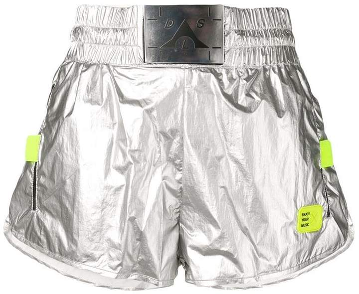 Diesel logo patch fitted shorts