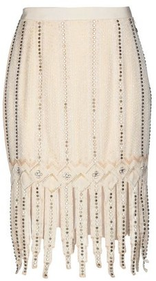 ELISABETTA FRANCHI GOLD Knee length skirt