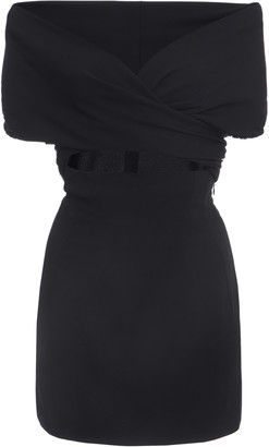 Dolce & Gabbana Off-The-Shoulder Stretch-Jersey Mini Dress