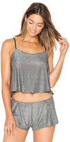 Only Hearts Metallic Jersey Flare Cami