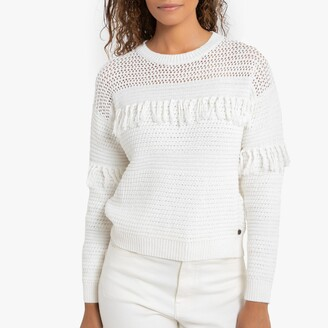Pepe Jeans Dina Cotton Fringed Jumper with Round Neck