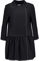 RED Valentino Crepe de chine-trimmed wool-blend felt coat