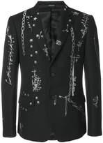 Alexander McQueen safety pin blazer