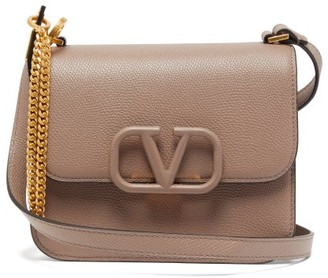 Valentino V-sling Small Leather Shoulder Bag - Womens - Grey
