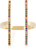 Ileana Makri Rainbow stones & yellow-gold ring