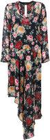 Twin-Set asymmetric floral print dress - women - Viscose - 38