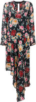 Twin-Set asymmetric floral print dress - women - Viscose - 40