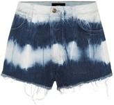 Alanui High-rise denim shorts