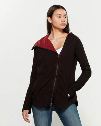 Research Code By Never Enough Wine Red Long Sleeve Full-Zip Cardigan
