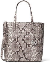 MICHAEL Michael Kors Hayley Medium Laser-Cut Tote Bag, Natural