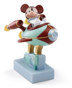 Lenox Mickey Goes To The Moon Lit Figurine