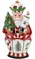 "Spode Christmas Tree Santa Nutcracker Peppermint 10"" x 5.25"" Small Dish"