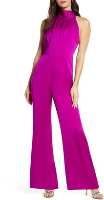 Harlyn Tie Back Satin Jumpsuit