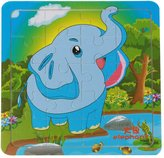 Boddenly Cartoon Animals Wooden Jigsaw Puzzles Educational Developmental Toy For Baby Kids