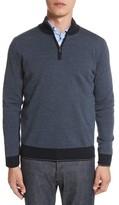 Canali Men's Quarter Zip Wool Sweater