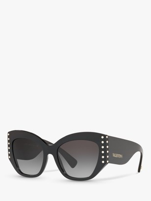 Valentino VA4056 Women's Studded Cat's Eye Sunglasses