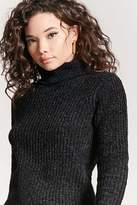 Forever 21 Marled Chenille Knit Turtleneck