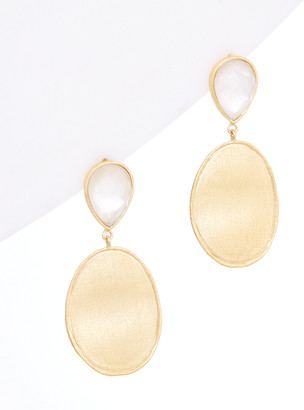 Rivka Friedman 18K Gold Clad Mother-Of-Pearl Doublet Earrings
