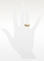 Forzieri Ridged 14K Gold Band Ring