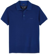 Armani Jeans Dark Blue Piqué Cotton Polo Shirt
