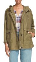 Joie &Camea& Hooded Twill Utility Jacket