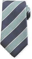 Isaia Pastel Wide-Stripe Silk Tie