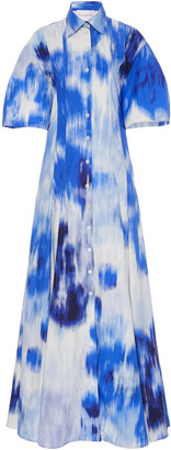 Carolina Herrera Printed Cotton-Blend Maxi Dress