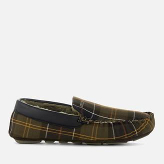 Barbour Men's Monty Suede Moccasin Slippers - Classic Tartan