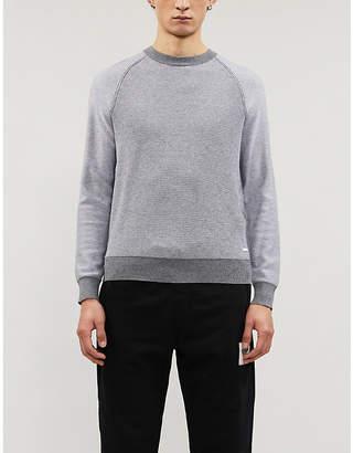 BOSS Cotton-and-wool blend jumper