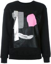 McQ by Alexander McQueen abstract face print sweatshirt
