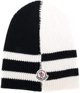 Moncler contrast knitted beanie hat