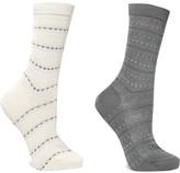 Falke Set Of Two Jacquard-knit Socks - Gray