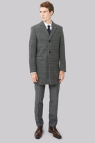 Moss Bros Slim Fit Prince Of Wales Check Overcoat