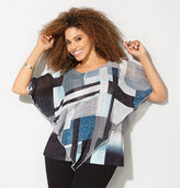 Avenue Graphic Block Poncho Top