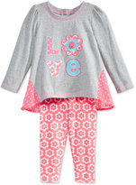 Nannette Baby Girls' 2-Pc. Love Tunic & Leggings Set