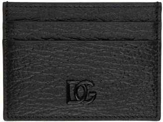 Dolce & Gabbana Black Crossed Logo Card Holder