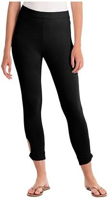 Fresh Produce Sanibel Capri Leggings (Black) Women's Casual Pants