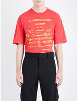 Raf Simons Summer Games Cotton-jersey T-shirt